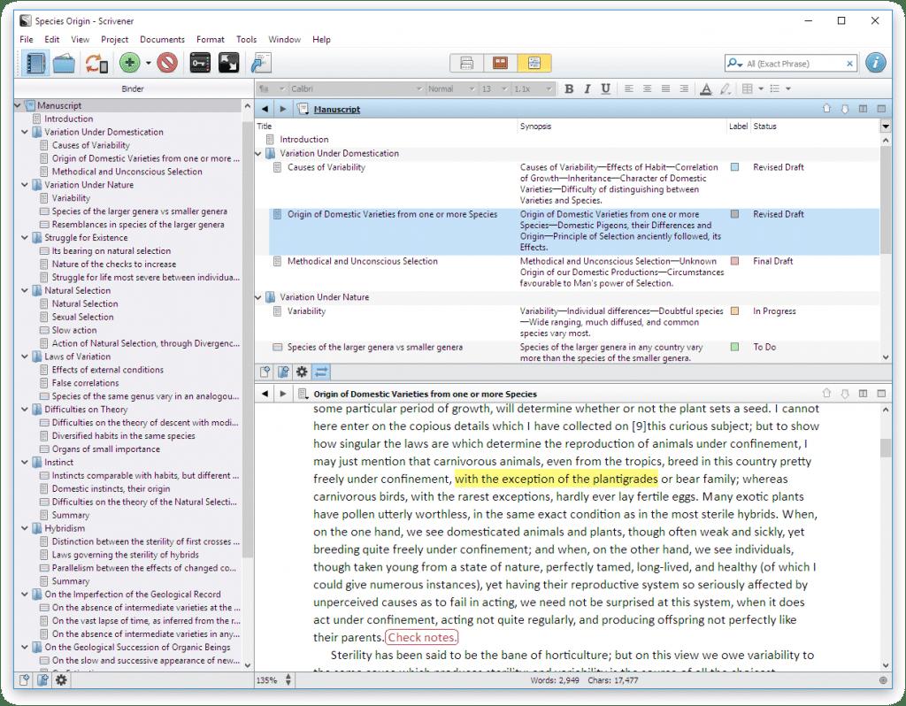 Scrivener Dissertation Templates