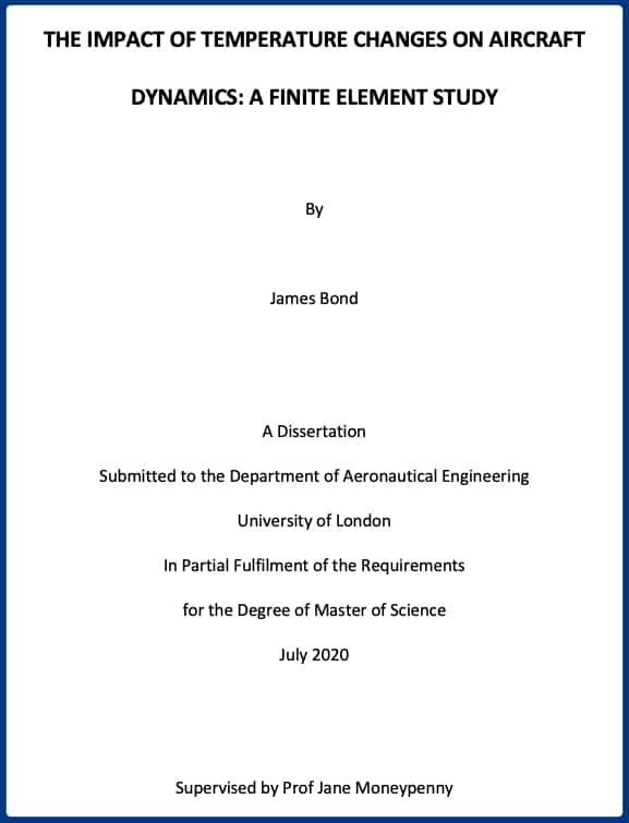 The Dissertation Title Page | DiscoverPhDs