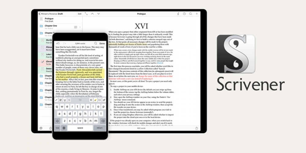 Scrivener for Academic Writing and Journals